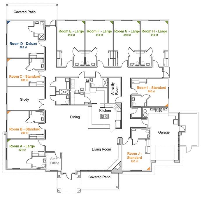 Floor Plan for Park Senior Villas